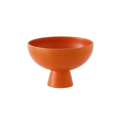 Arts de la table - Saladiers, coupes et bols - Coupe Strøm Small / Ø 15 cm - Céramique / Fait main - raawii - Orange Vibrant - Céramique