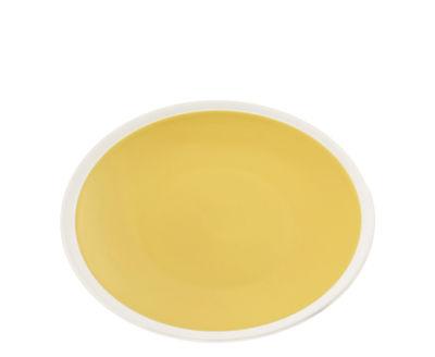 Tableware - Plates - Sicilia Dessert plate - Ø 20 cm by Maison Sarah Lavoine - Tournesol / White - Painted enameled stoneware
