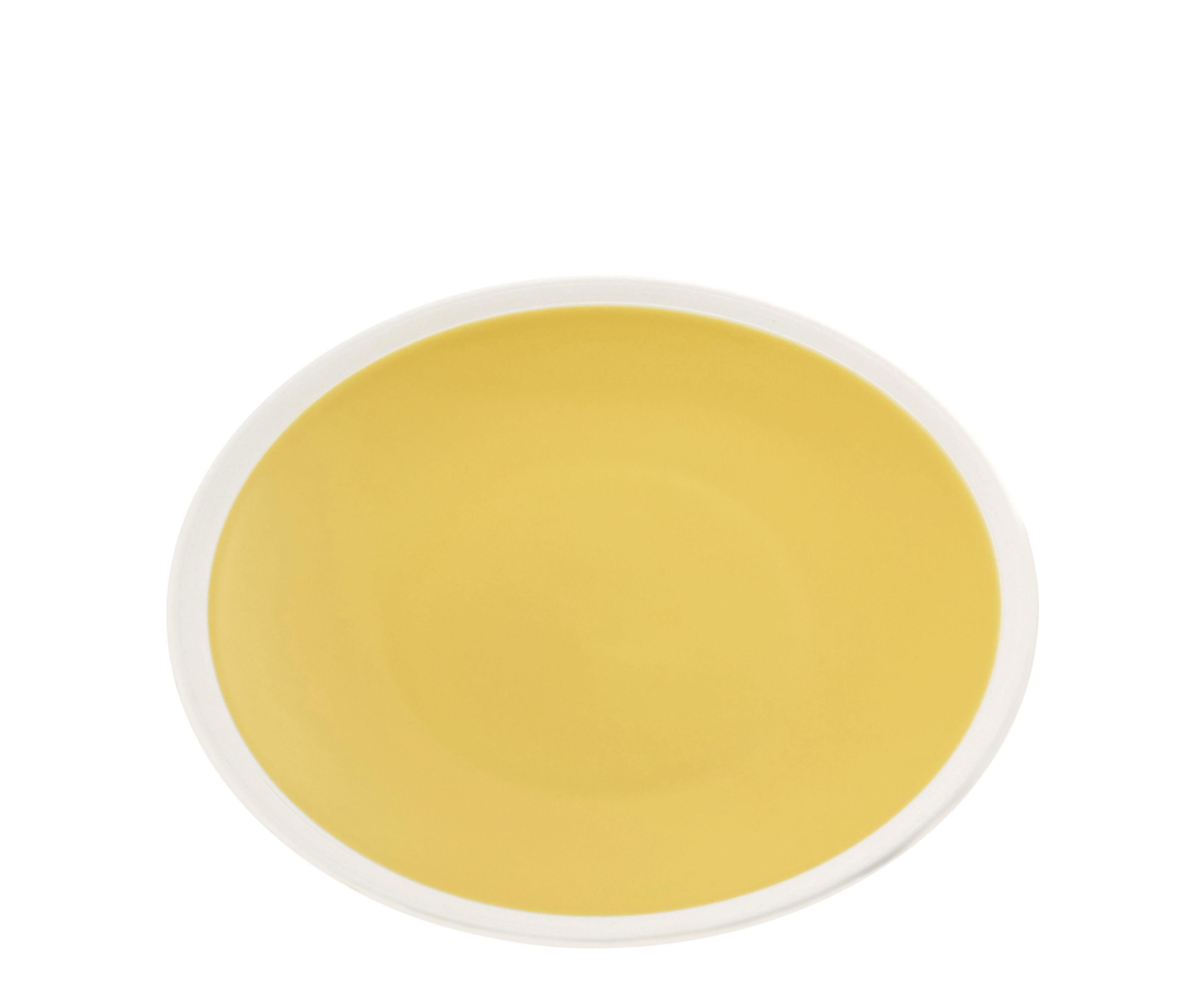 Tischkultur - Teller - Sicilia Dessertteller / Ø 20 cm - Maison Sarah Lavoine - Sonnenblume / weiß - Feinsteinzeug, bemalt und glasiert