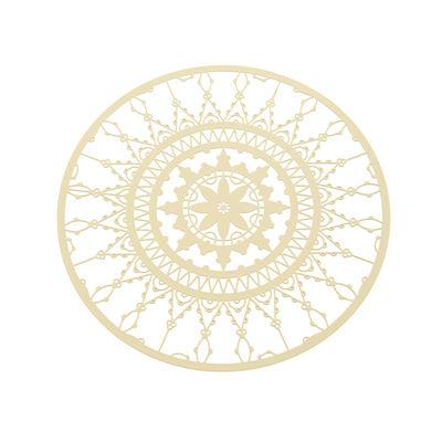 Arts de la table - Accessoires - Dessous de verre Italic Lace / Ø 10 cm - Lot de 4 - Driade Kosmo - Blanc - Laiton