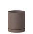 Sekki Medium Flowerpot - / Ø 13,5 x H 15,7 cm - Grès by Ferm Living