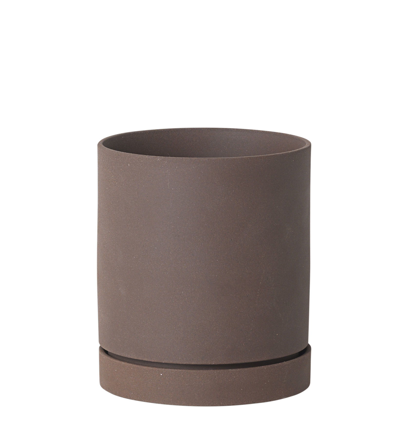 Outdoor - Pots & Plants - Sekki Medium Flowerpot - / Ø 13,5 x H 15,7 cm - Grès by Ferm Living - Rouille - Sandstone