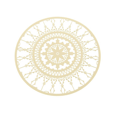 Tableware - Table Mats & Trivets - Italic Lace Glass coaster - Ø 10 cm - Set of 4 by Driade Kosmo - White - Brass