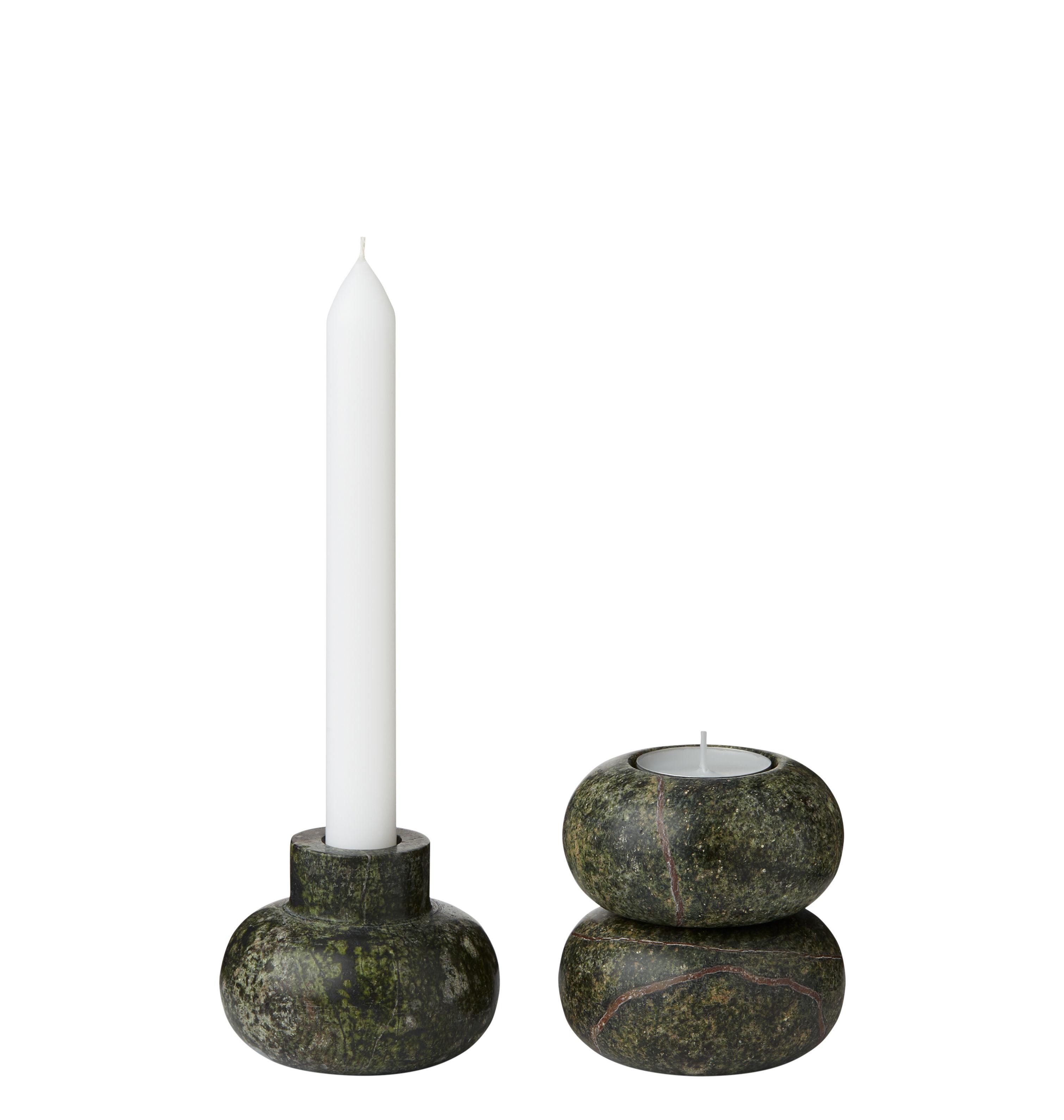 Dekoration - Kerzen, Kerzenleuchter und Windlichter - Rock Small Kerzenleuchter / Marmor - variabel - Tom Dixon - Klein / grün - Marmor