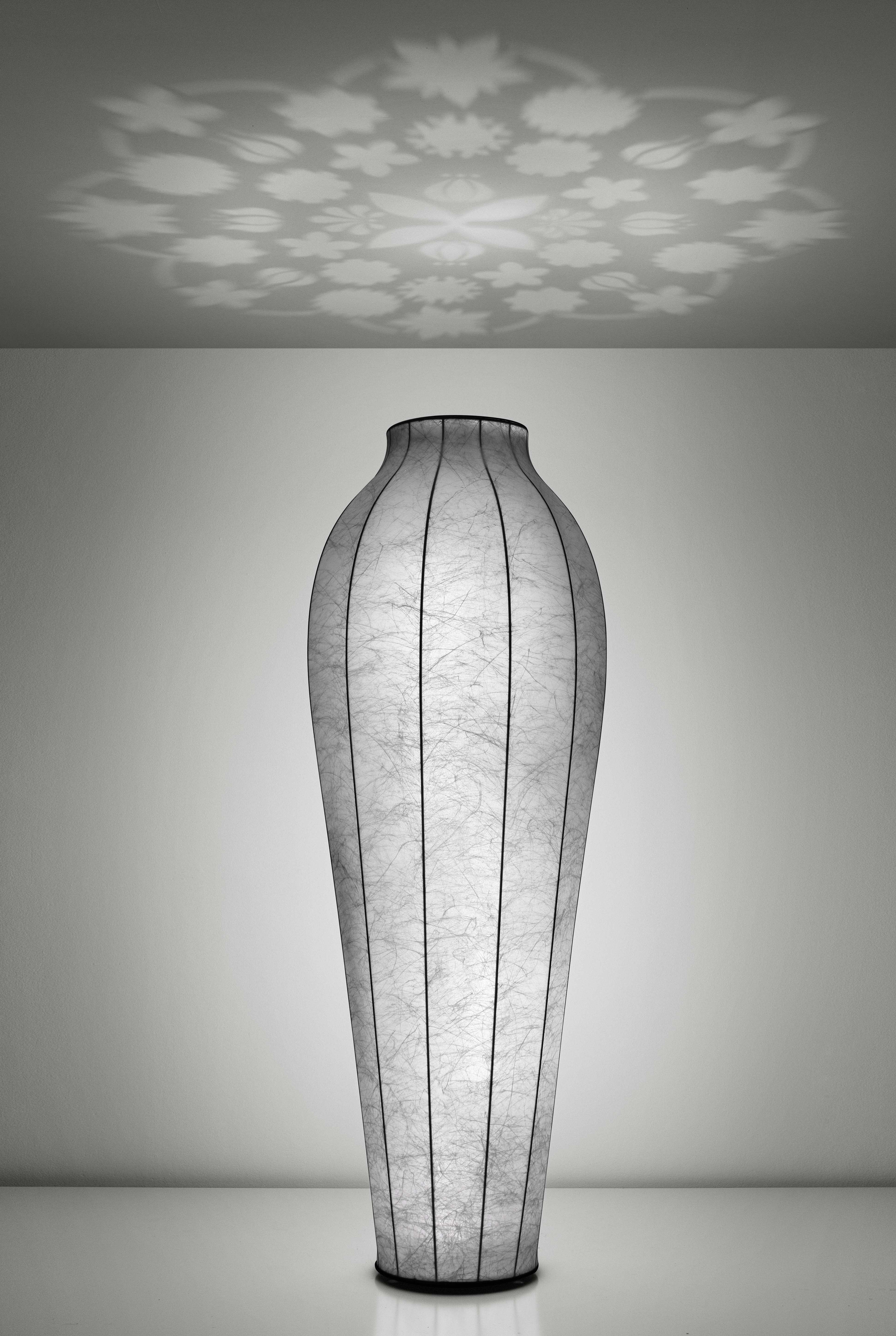 Illuminazione - Lampada a stelo Chrysalis - H 200 cm - Proiezione a soffitto di Flos - Bianco - ABS, Acciaio, Resina, Vetro