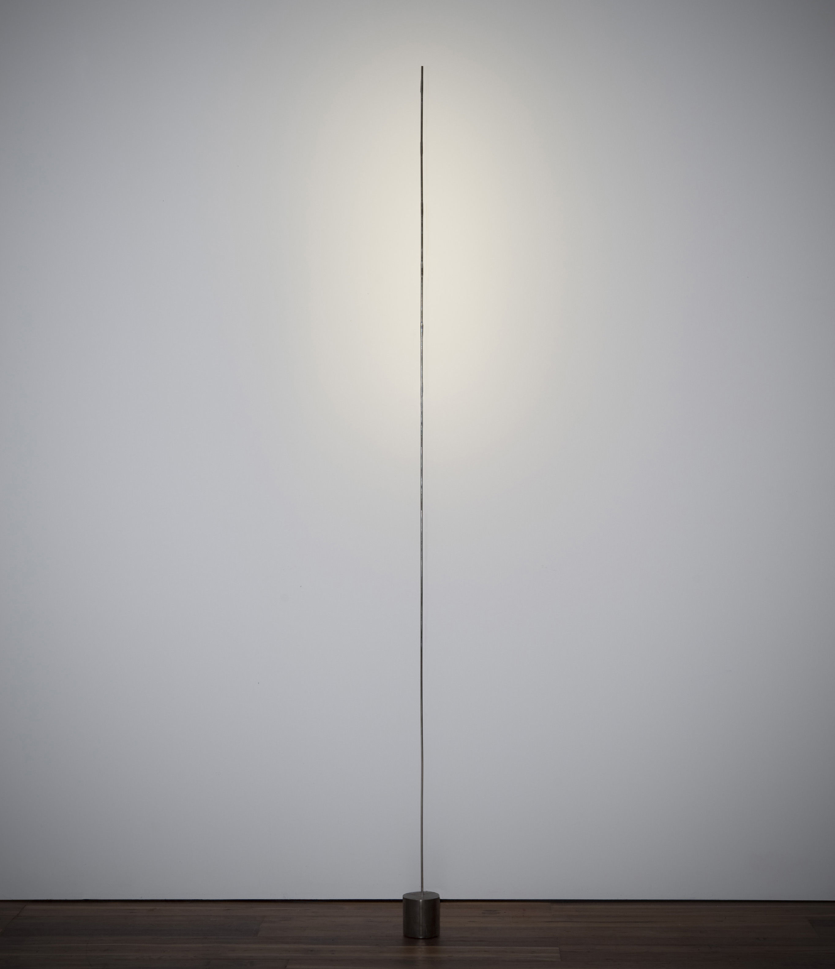 Illuminazione - Lampade da terra - Lampada a stelo Light stick di Catellani & Smith - Argento - Base nera - Metallo