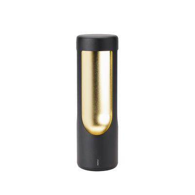 Illuminazione - Lampade da tavolo - Lampada senza fili Elton - / LED di Stelton - Nero & ottone - Acciaio inossidabile