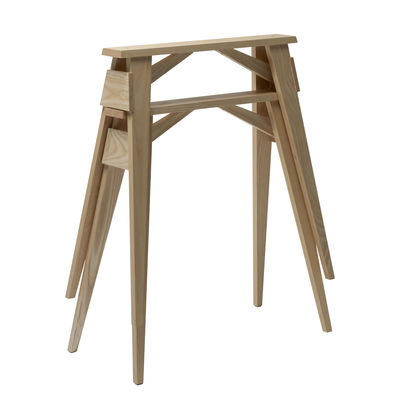 Furniture - Office Furniture - Arco Pair of trestles by Design House Stockholm - Ash - Solid oak