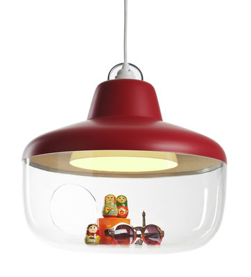 Lighting - Pendant Lighting - Favourite things Pendant by ENOstudio - Raspberry red - Polycarbonate, Polypropylene