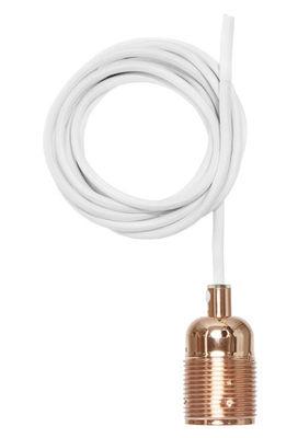Lighting - Pendant Lighting - Frama Kit Pendant - Set cable + lamp socket E27 by Frama  - Copper / White cable - Copper, Fabric