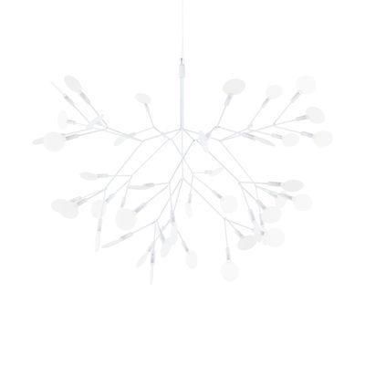 Leuchten - Pendelleuchten - Heracleum II Suspended Pendelleuchte / Small - Ø 72 cm / LED - Moooi - Weiß - Metall, Polykarbonat, Stahl