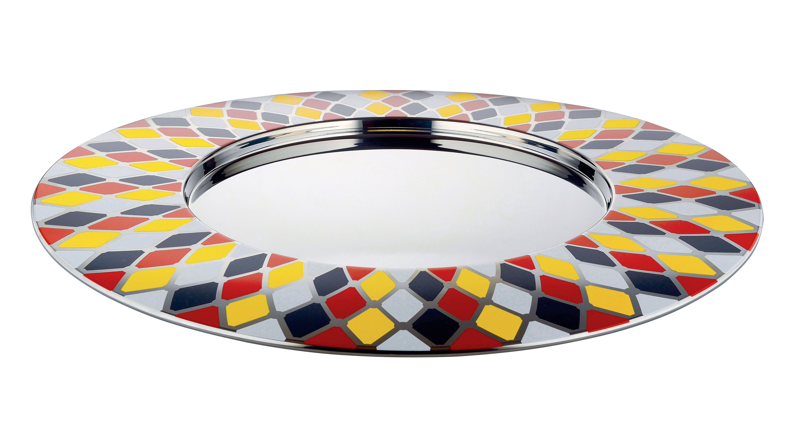 Arts de la table - Plateaux - Plateau Circus / Ø 48 cm - Métal - Alessi - Multicolore - Acier inoxydable peint