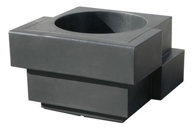 Pot de fleurs Cubic Yo - Slide gris en matière plastique