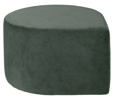 Furniture - Poufs & Floor Cushions - Stilla Pouf - / Velvet by AYTM - Forest green - Velvet