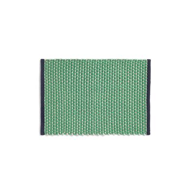 Decoration - Rugs - Rug - / Jute & wool - 50 x 70 cm by Hay - Green - Hessian, Wool
