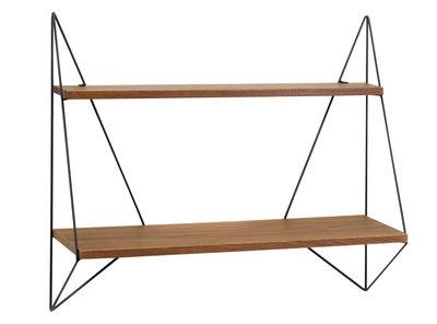 Arredamento - Scaffali e librerie - Scaffale Butterfly Simple - / L 75 x H 64 cm di Serax - Legno scuro / Struttura nera - Compensato di rovere tinto, metallo laccato