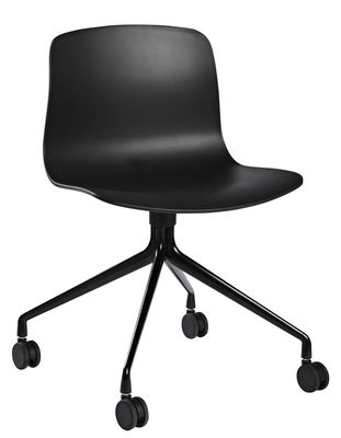 Sedia a rotelle About a chair AAC14 Hay - Nero - L 51 x h 77 | Made ...
