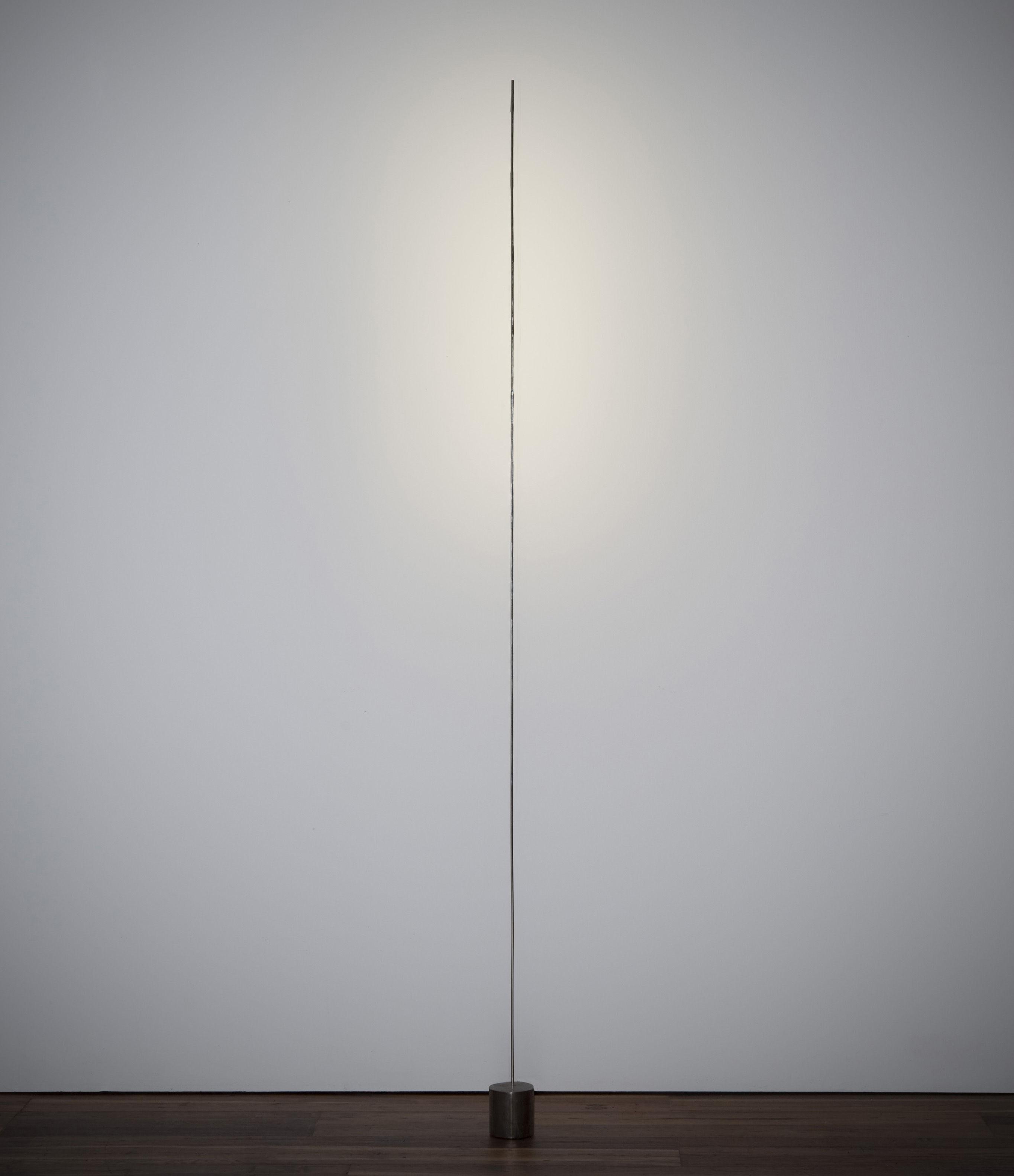 Leuchten - Stehleuchten - Light stick Stehleuchte - Catellani & Smith - Silberfarben - Schwarze Basis - Metall