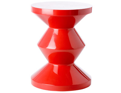 Furniture - Stools - Zig Zag Stool - Stool/Low table - Exclusivity by Pols Potten - Red - Lacquered polyester