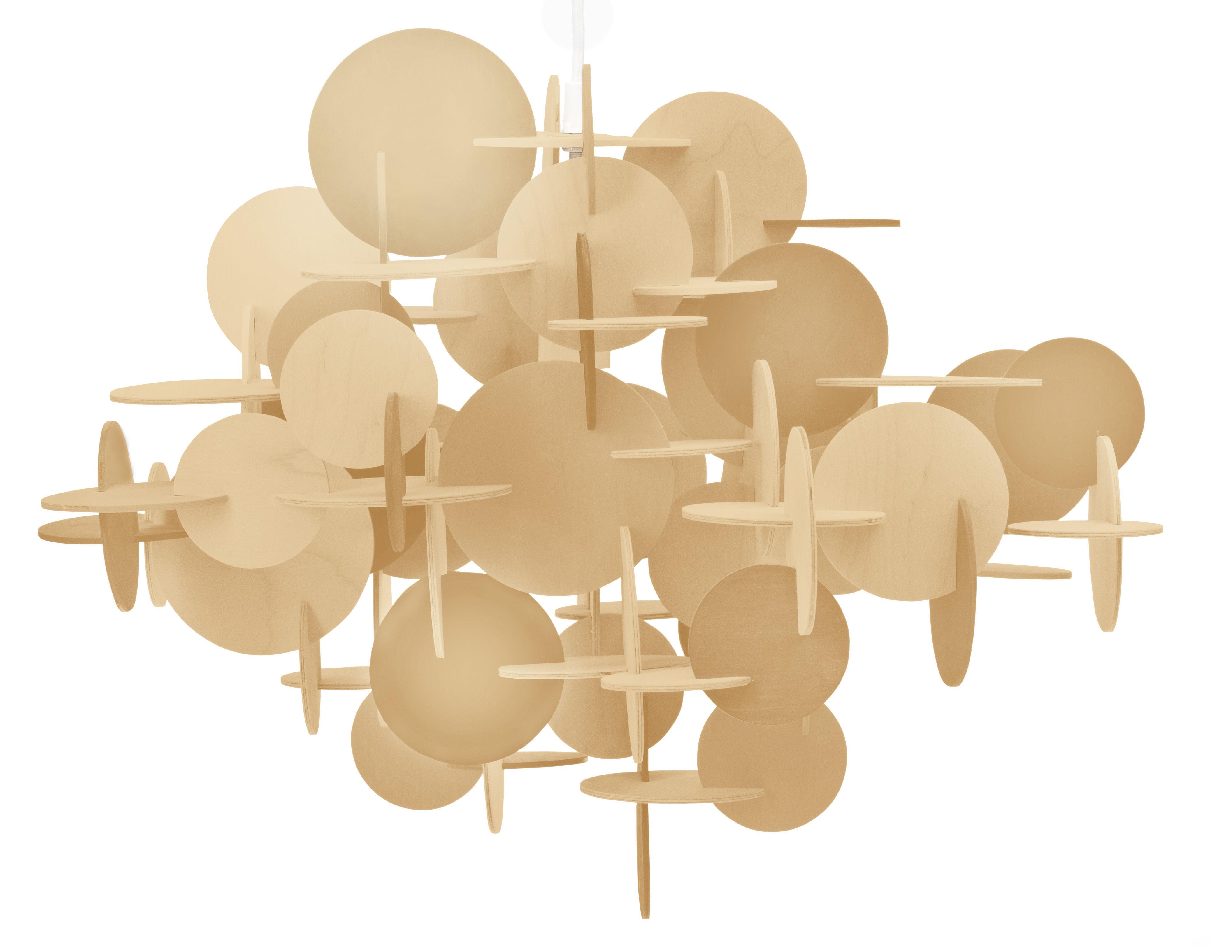 Luminaire - Suspensions - Suspension Bau Small / H 43 cm - Normann Copenhagen - Bois naturel - Pin