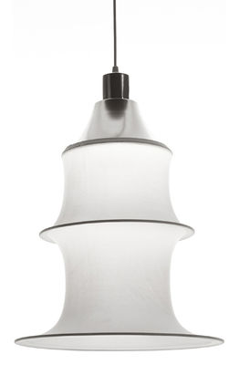 Suspension Falkland H 53 cm - Danese Light blanc en tissu
