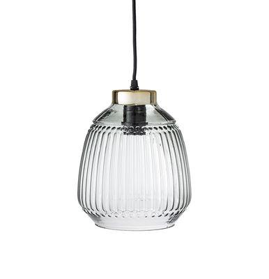 Suspension / Verre - Ø 20 cm - Bloomingville or,vert clair transparent en verre