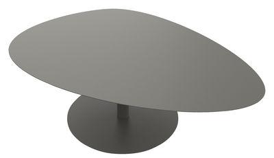 Table basse Galet XL / INDOOR - 80 x 120 - H 38,7 cm - Matière Grise taupe en métal