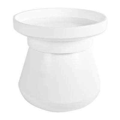 Table basse Pado / Coffre - Ø 40 x H 41 cm - Plateau amovible - XL Boom blanc en bois