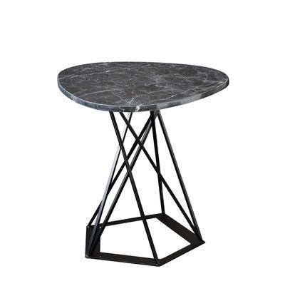Table basse Poliedrik / Marbre - L 58 cm - Zeus noir brillant,noir cuivré en métal