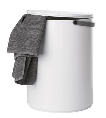 Mobilier - Tabourets bas - Tabouret Stool & Storage / Coffre - Plastique - Design Letters - Blanc / Poignée grise - ABS