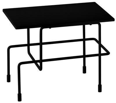 Arredamento - Tavolini  - Tavolino Traffic - / 45 x 30 cm di Magis - Nero - Acciaio verniciato, Pietra acrilica