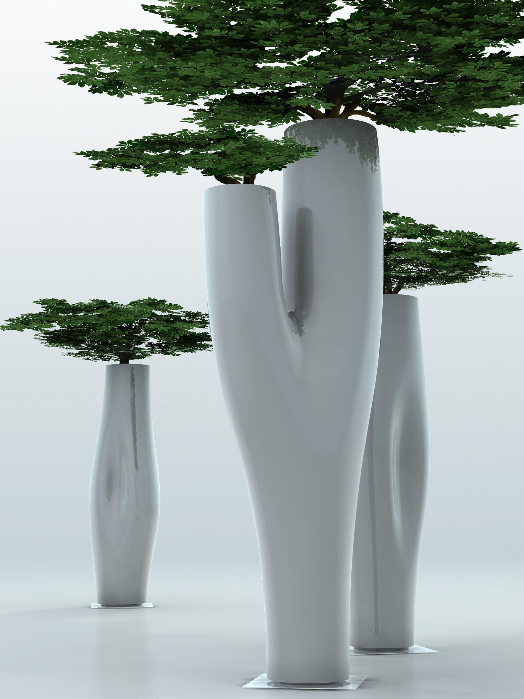 Missed Tree I Vaso Per Fiori Nero Opaco By Serralunga Made In Design