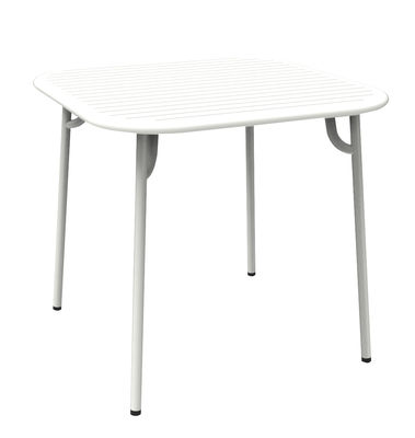 Table carrée Week-end Petite Friture - Blanc - h 75 | Made In Design