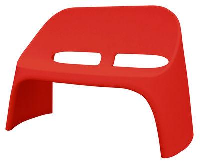 Mobilier - Bancs - Banc avec dossier Amélie / 2 places - L 120 cm - Plastique - Slide - Rouge - polyéthène recyclable