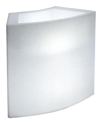 Arredamento - Tavoli alti - Bancone luminoso Ice Bar di Slide - Bianco - Polietilene riciclabile a stampaggio rotazionale
