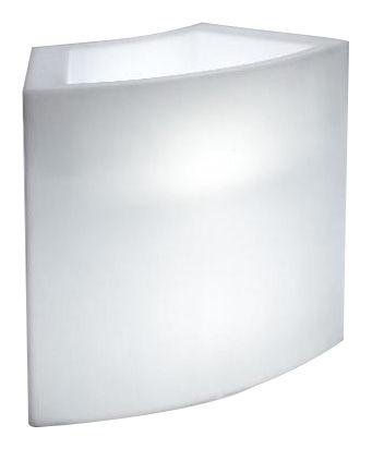 Mobilier - Mange-debout et bars - Bar lumineux Ice Bar / Module porte-bouteilles - Slide - Blanc - Polyéthylène recyclable rotomoulé