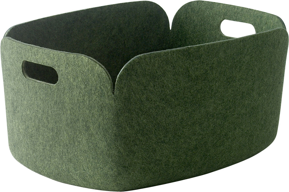 Decoration - Boxes & Baskets - Restore Basket - 100% recycled by Muuto - Green - Recycled felt