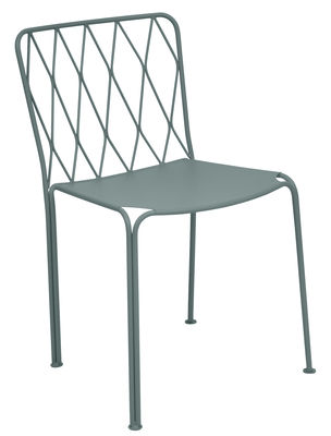 Furniture - Chairs - Kintbury Chair - Metal by Fermob - Storm Grey - Painted steel