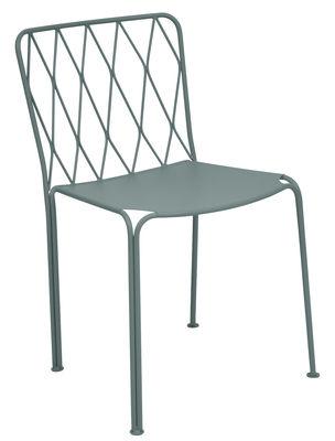 Mobilier - Chaises, fauteuils de salle à manger - Chaise Kintbury / Métal - Fermob - Gris Orage - Acier peint