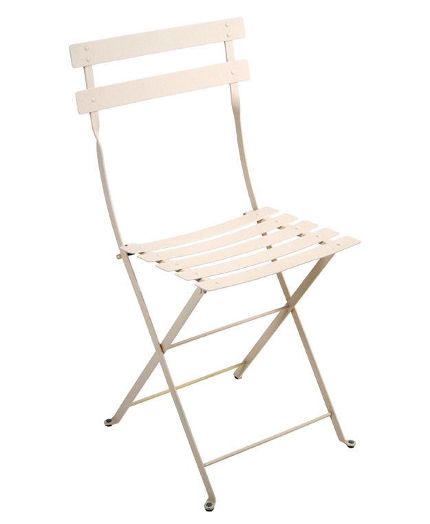 Mobilier - Chaises, fauteuils de salle à manger - Chaise pliante Bistro / Métal - Fermob - Lin - Acier laqué