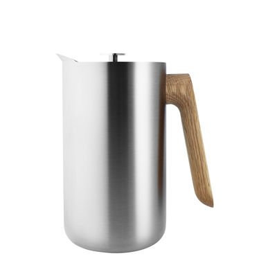 Tableware - Tea & Coffee Accessories - Nordic Kitchen Coffee maker - / Isothermal pitcher - 1 L by Eva Solo - Stainless steel / Oak - Oak, Stainless steel