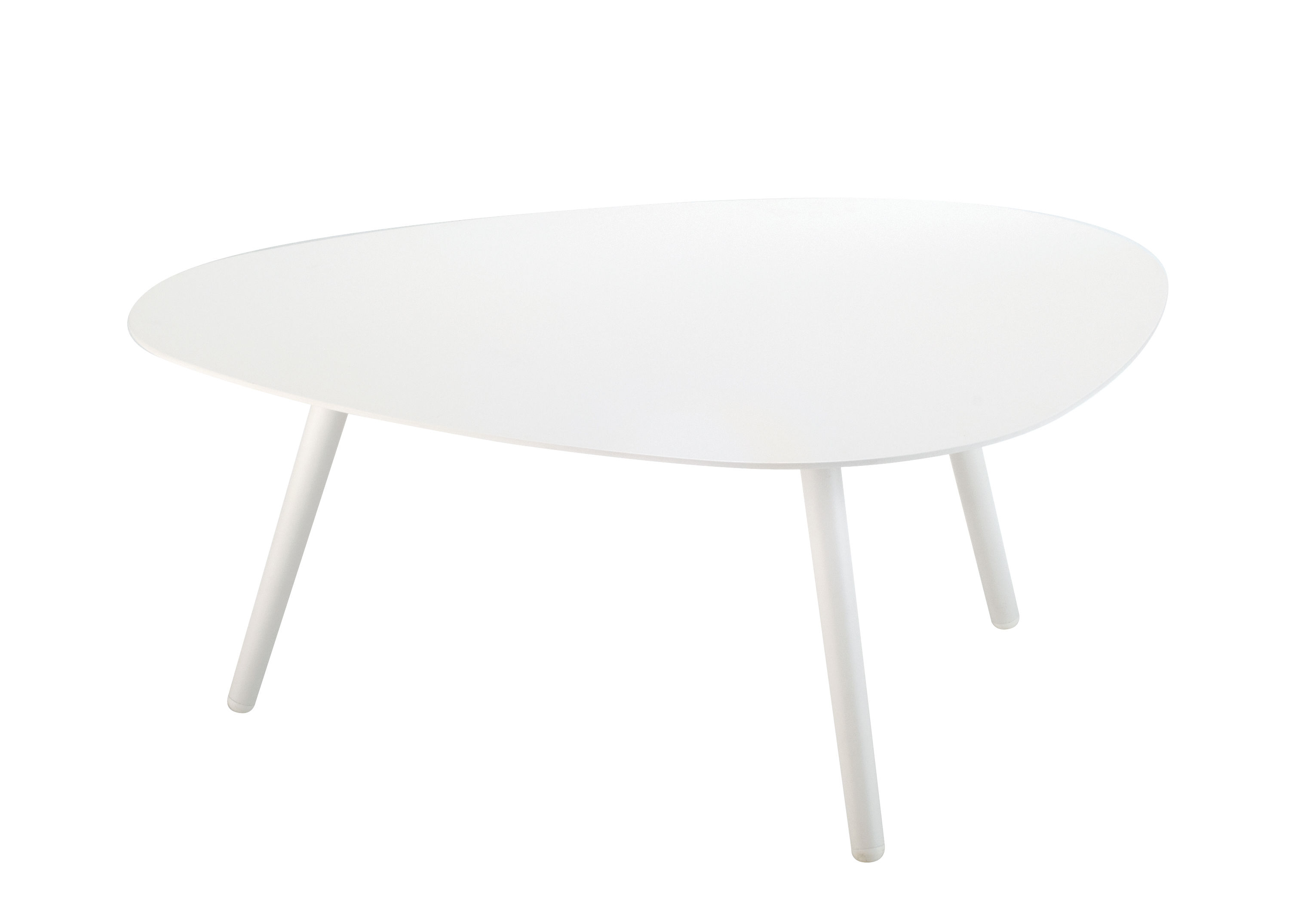 Furniture - Coffee Tables - Vanity Coffee table - 86 x 71 cm / Aluminium by Vlaemynck - White - Lacquered aluminium