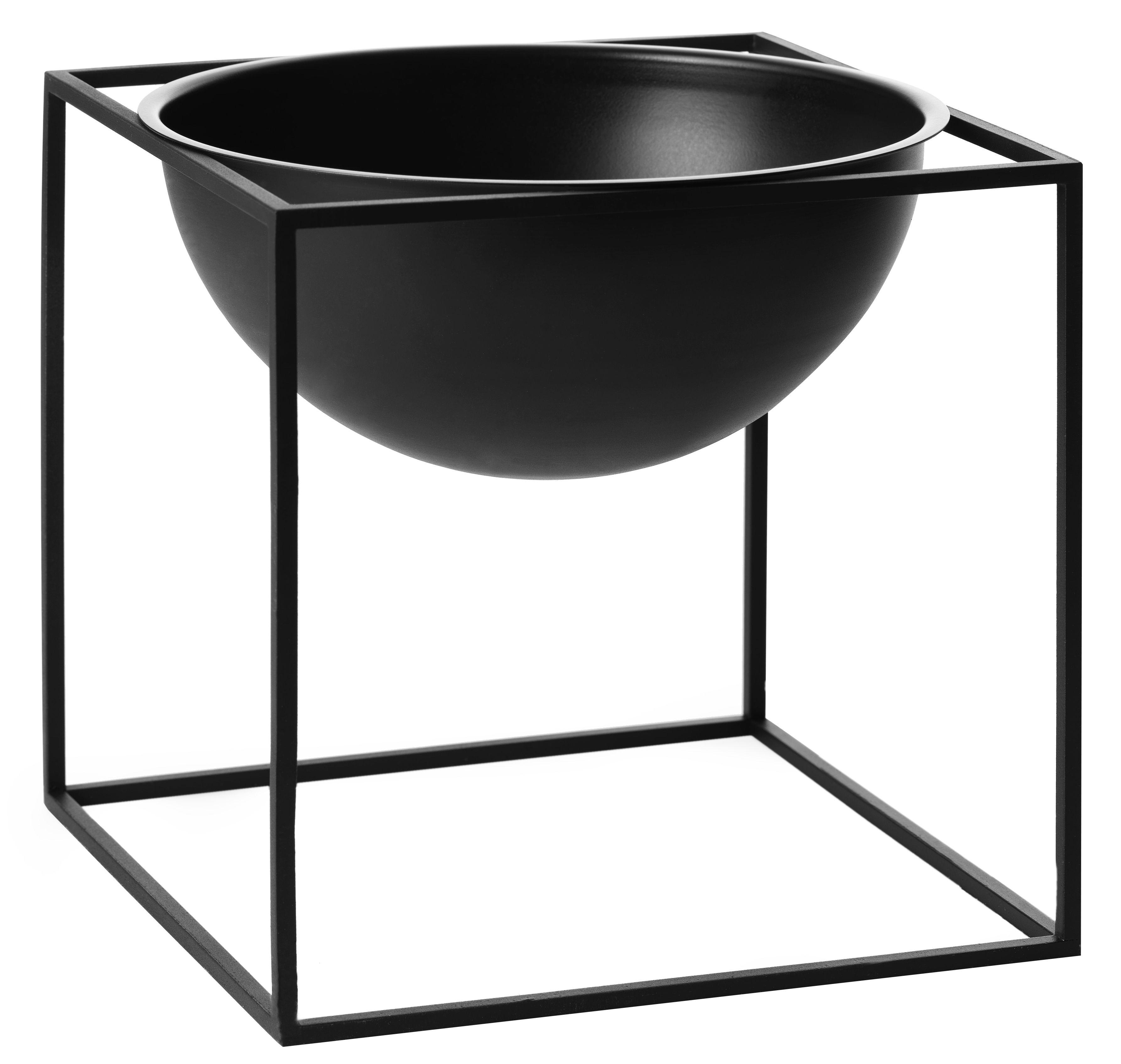Déco - Corbeilles, centres de table, vide-poches - Coupe Kubus Large / H 23 cm - by Lassen - Noir - Acier laqué