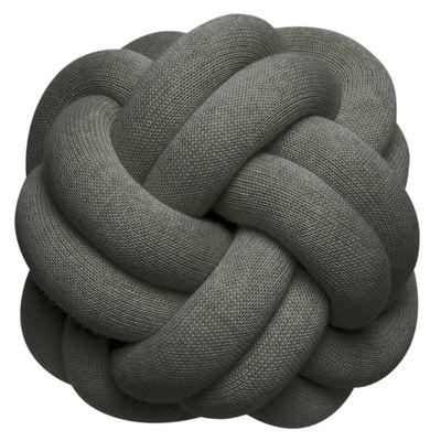 Interni - Cuscini  - Cuscino Knot - / Fatto a mano - 30 x 30 cm di Design House Stockholm - Verde foresta - Acrilico, Lana