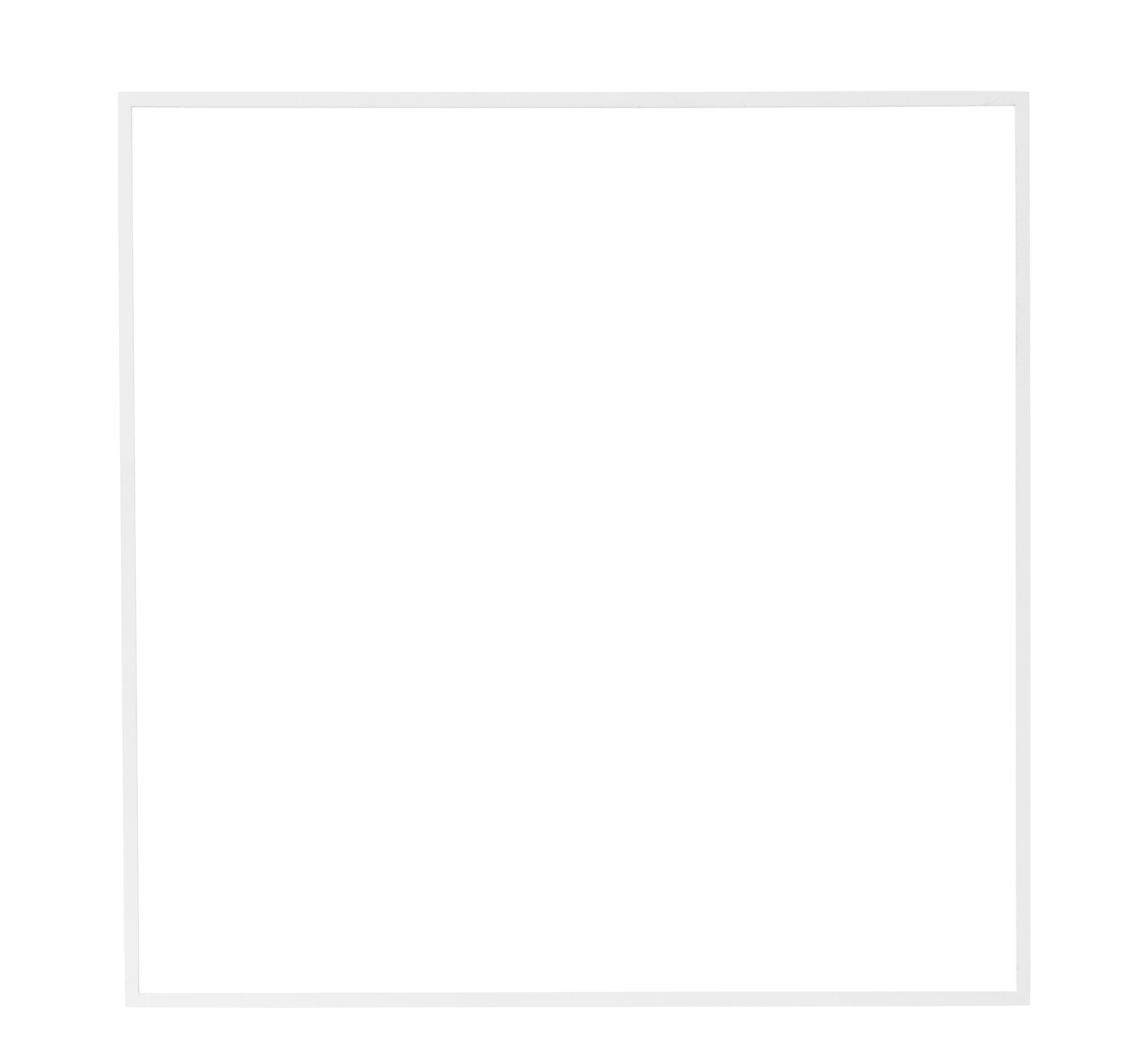Déco - Objets déco et cadres-photos - Décoration Still Carré / 60 x 60 cm - Métal - Menu - Blanc - Acier peint
