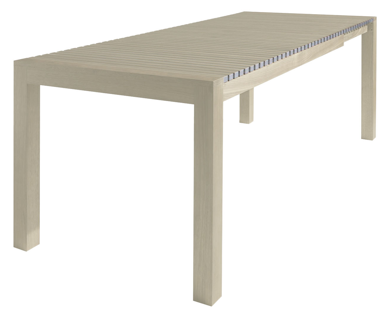 Furniture - Dining Tables - Astor Extending table - L 150 / 210 cm by Horm - Whitened beech / Aluminium - Anodized aluminium, Wood