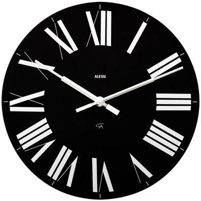 Déco - Horloges  - Horloge murale Firenze - Alessi - Noir / aiguilles blanches - ABS