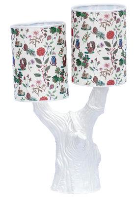 Illuminazione - Lampade da tavolo - Lampada Y&M - / Senza paralume di Domestic - Arbre blu / senza paralume - Terracotta smaltata