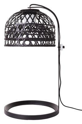 Lampe de table Emperor - Moooi noir en fibre végétale
