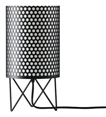 Luminaire - Lampes de table - Lampe de table Pedrera ABC Ø 18 x H 35 cm - Gubi - Noir - Métal, Polyéthylène
